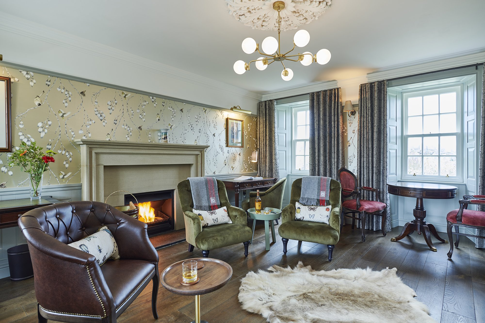 Drawing Room - Luxury Lodge - Isle of Skye - Monkstadt House